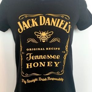 Jack Daniels Women T Shirt M Fitted Bella Canvas